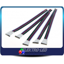 Female 5 pin connector for RGBW LED strip with cables